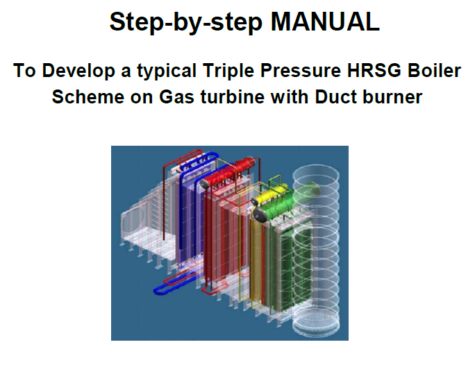 Step by Step trippel pressure HRSG with duct burner